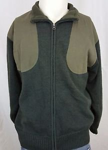 BERETTA Full Zip Lined Wool Olive Windproof Hunting Shooting Heavy Jacket Size M