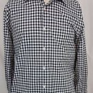 Ralph Lauren Purple Label Button Down Black White Checker Shirt 16 Italy