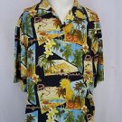 Tommy Bahama Mens Palm Springs Postcard Print Hawaiian Silk Shirt - L