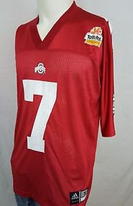 Ohio State Buckeyes #7 Tostitos Fiesta Bowl Adidas Jersey Size Small