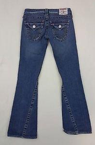 True Religion Joey  Denim Button Flap Pocket Women's Blue Jeans Size 25