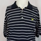 Masters Collection Augusta National Black Striped Polo Golf Shirt - L Large