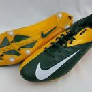 Nike Vapor Pro Low Football Cleats Yellow Green Bay Packers 544760-312 Size 16