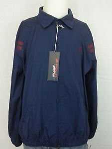 Polo Ralph Lauren US Open Tennis Big Pony Navy Windbreaker Zip Jacket - XL NEW