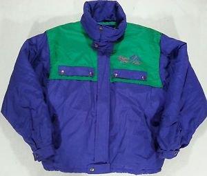 Vintage FILA MAGIC LINE Green Purple Retro JACKET Ski Coat ITALY - Large L