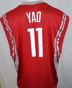 Houston Rockets Yao Ming #11 Red Reebok NBA Basketball Jersey Size XL