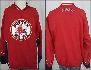 New Boston Red Sox Sewn Logo Pullover Vented Lined Genuine MLB Jacket - Large