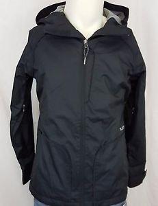 Burton Dryride Ski Snowboard Jacket Hooded Black Coat Jacket Size Medium