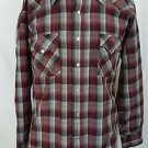 Pendleton High Grade Western Wear Wool Red Maroon Plaid Pearl Snap Shirt Size XL