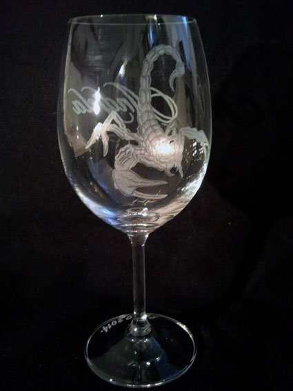 Engraved Personalized wineglass