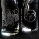 Engraved Personalized set of 6 glasses