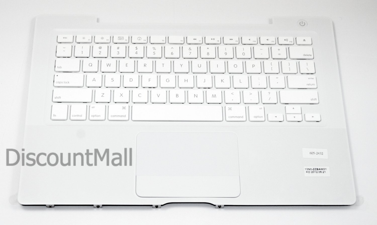 New Apple Top Case Keyboard White MacBook Late 07, 08, early 09 A1181