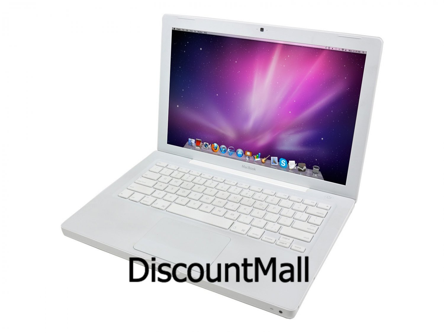 "Apple MacBook Laptop Notebook 2.0Ghz Core 2 Duo 1GB RAM 80GB HD 13.3"" Screen - Office 11 - OS X 10.6"