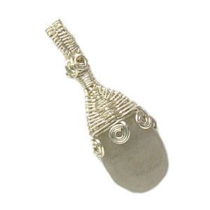 Silver and Snow Jade Pendant