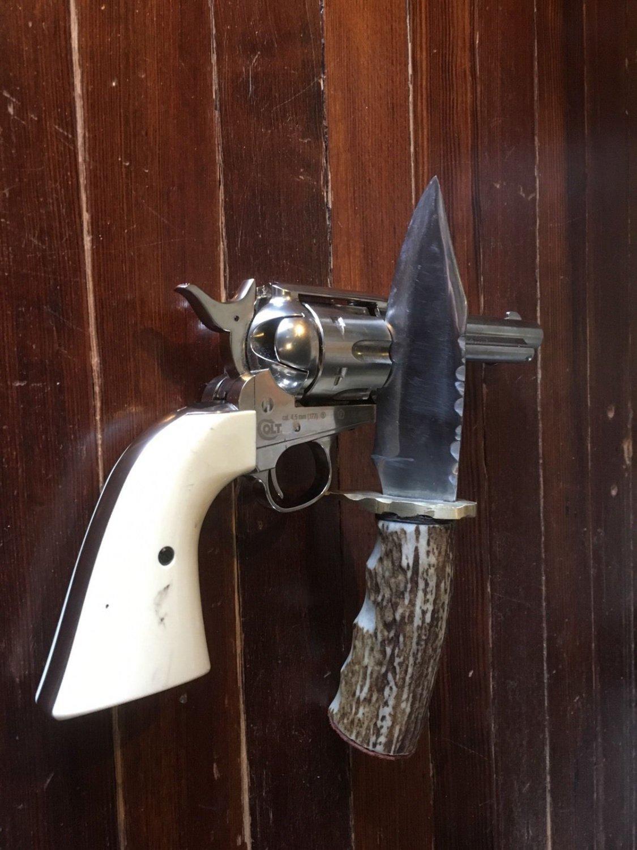 Antler Handle Indian Joe Knife Hand Made Custom Hand Forged   Blade Bowie USa