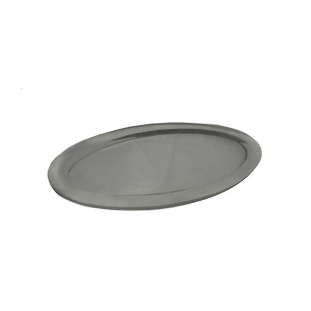 14 1/4 x 20 1/4 inch Oval Platter Pewter Glo