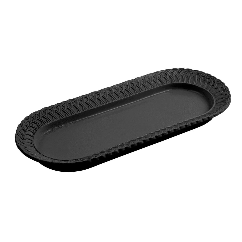 8 x 18 inch Trellis Fish Platter Sandstone Black