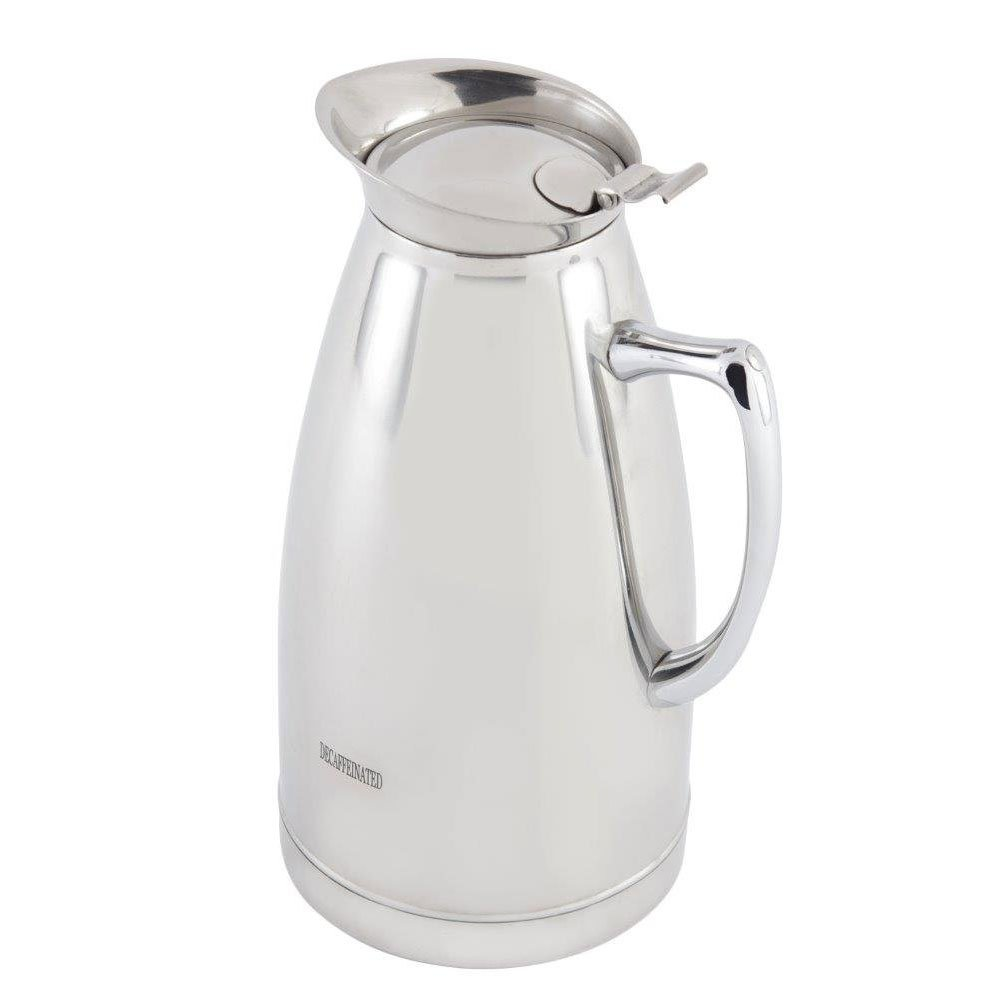 10 oz 6 3/4 inch H Stainless Steel Insulated Server with Crest Marriott 2 Percent