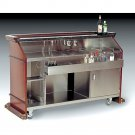 75 7/8 L x 28 5/8 W x 47 1/8 H inch Portable Liquor Bar with Sink / Ice Well