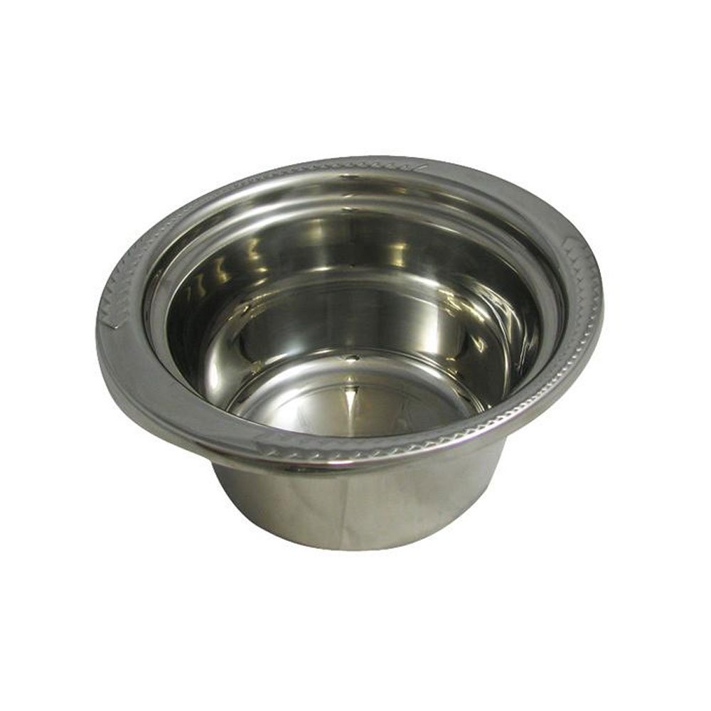 2 qt 10 x 9 x 4 3/4 inch Stainless Steel Casserole Laurel on the Rim