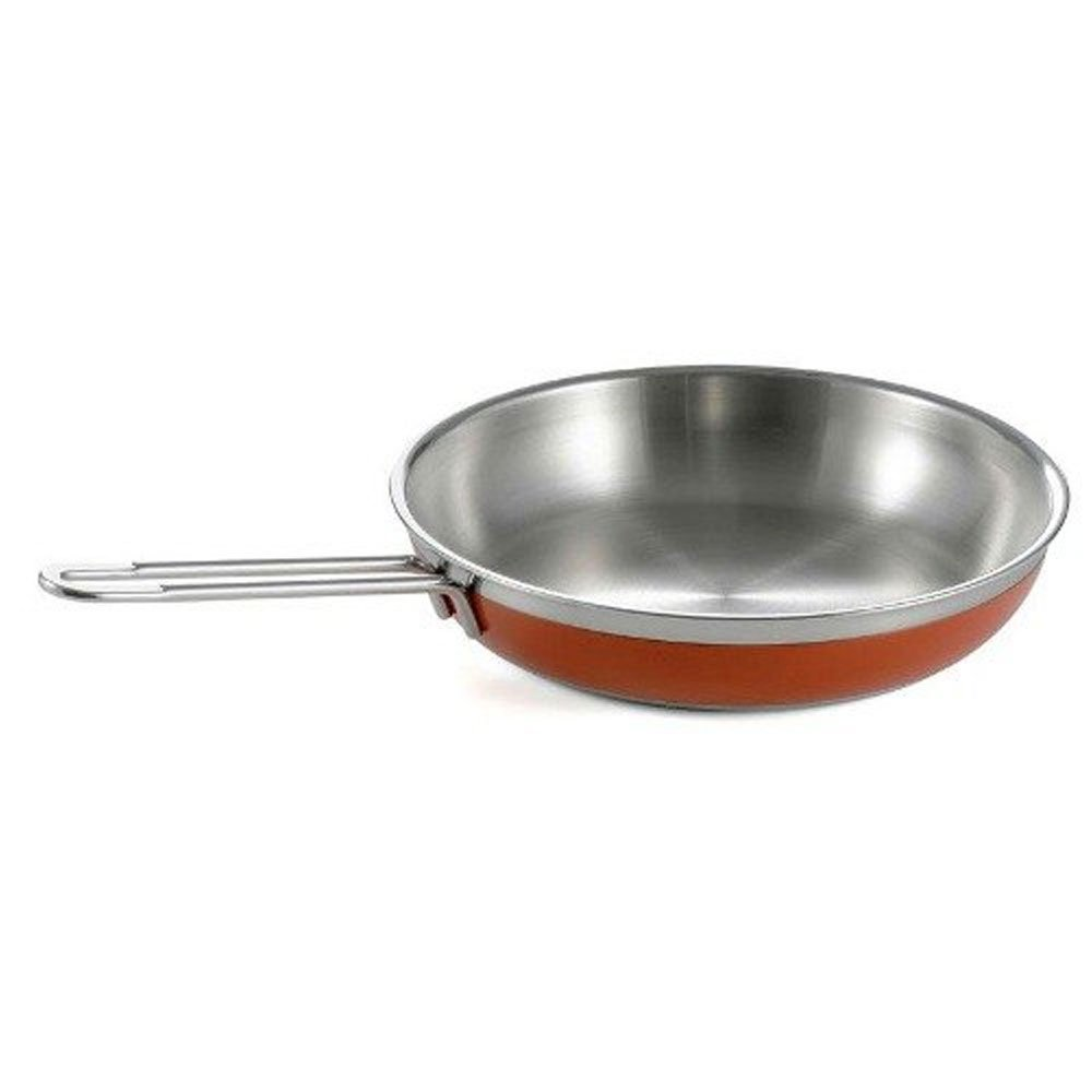 1 Qt. 10 1/8 dia. x 1 7/8 H inch Classic Saute Pan / Skillet with 1 Long Handle No Cover Orange