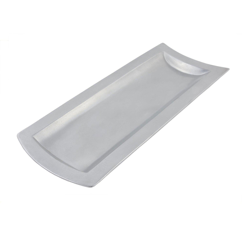 11 3/8 x 28 5/8 inch Futura Platter Pewter Glo