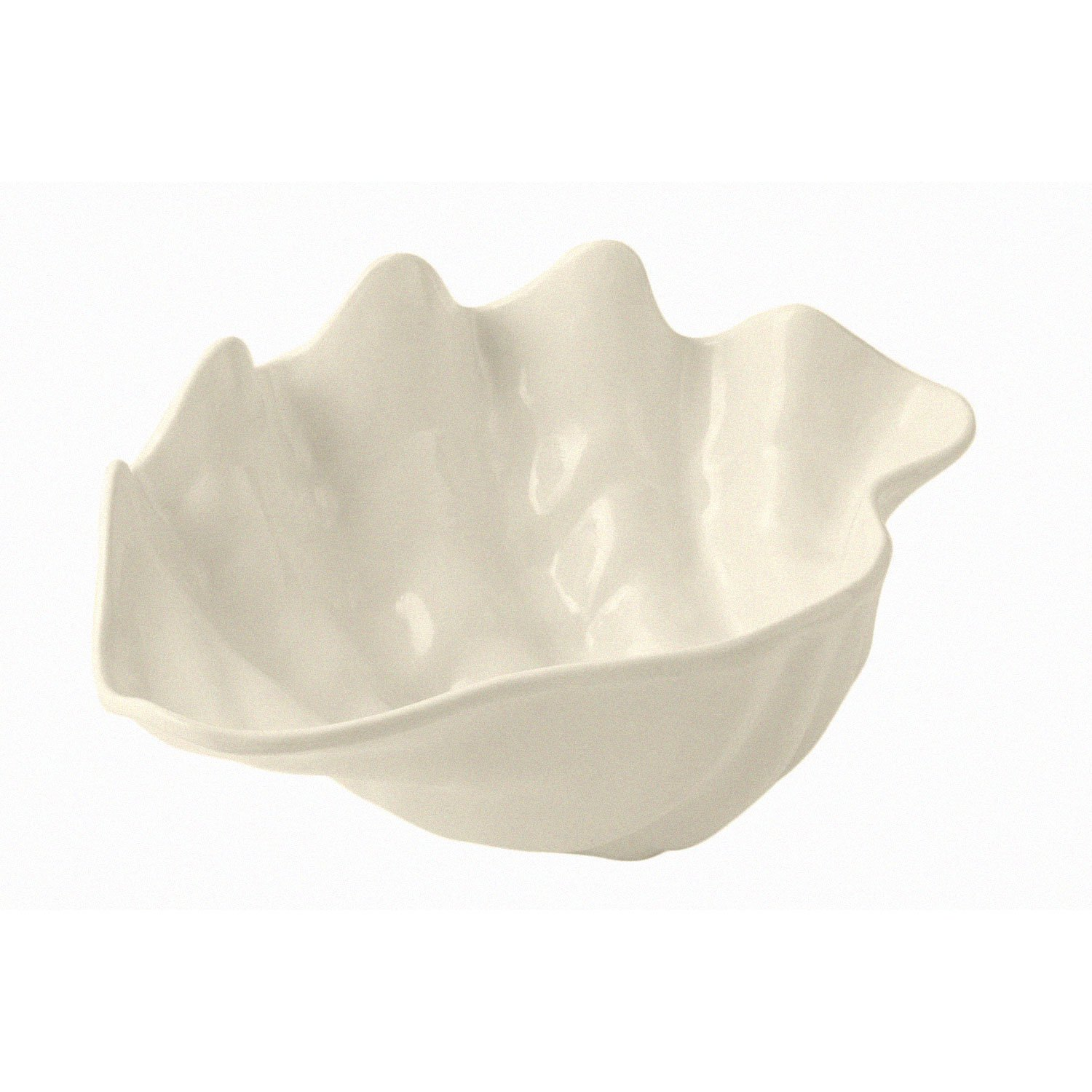 4 qt 11 1/4 x 18 1/2 inch Conch Shell Sandstone Ivory Speckled