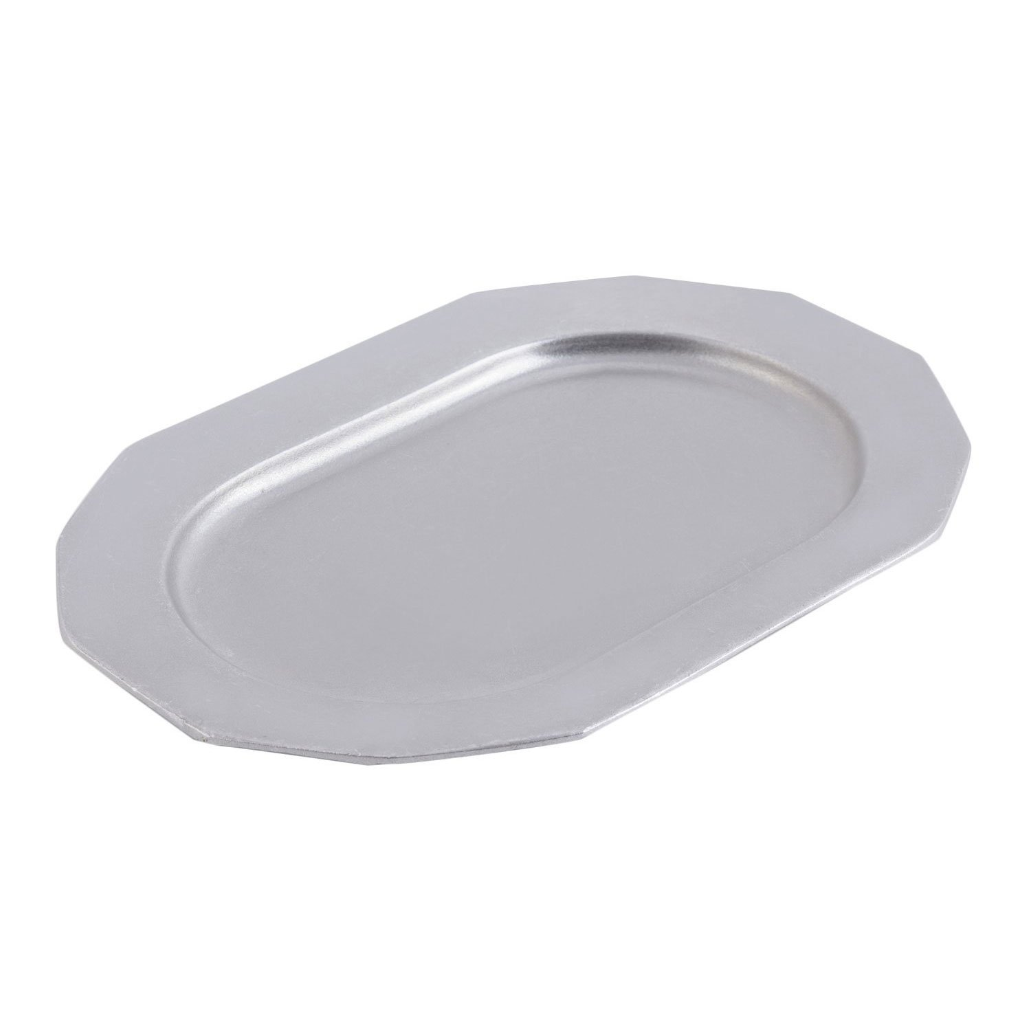 9 7/8 x 14 1/4 inch Prism Tray Pewter Glo
