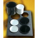 19 1/2 x 21 1/2 inch Custom Cut Tile with 6 Cutouts for 3 9203 and 3 9202 Sandstone Black