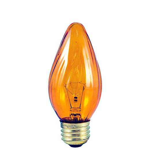 25 Watt Incandescent Fiesta F15 Medium Base Amber /Set of 50