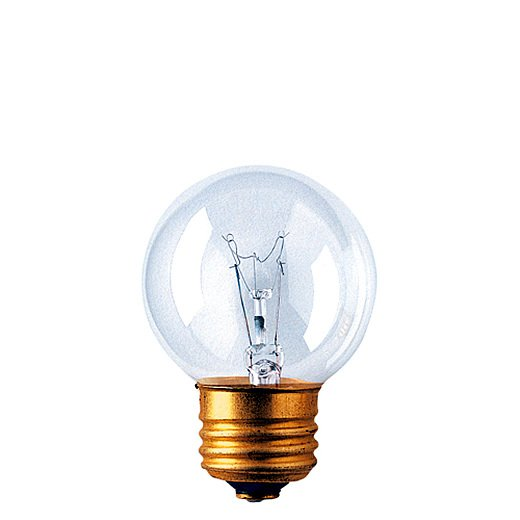 40 Watt Incandescent G16.5 Globe Medium Base Clear/Set of 50