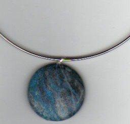 antiquish blue stone necklace