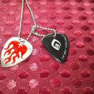 INNER SOUL Jewelry GUITAR PICK with CHAIN Gothic Tribal extreme RED FLAMES 23""