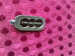 """Love You Forever"" PENDANT stainless steel silver Fine Jewelry"