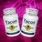 YACON ROOT diabetes hipocaloric ORGANIC NATURAL sweetener 2-BOTTLES 120 Capsules