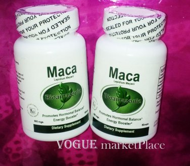 2 MACA HERB ROOT sex ability, fertility, energy, hormone  120 CAPSULES 2-BOTTLES
