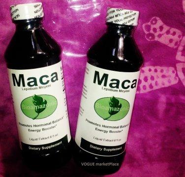 2 MACA ROOT Herb LIQUID Extract NO ALCOHOL virility energy Peruvian 2 Bottles