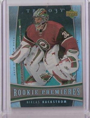 06-07 Trilogy Niklas Backstrom Rookie /999