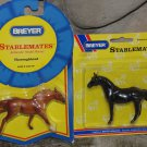 Breyer - 2 NIP - Stablemates Thoroughbred Race Horses 1994