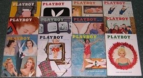 PLAYBOY 1956 MAGAZINES 12 ISSUES 56 YEAR JAN-DEC