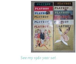 PLAYBOY 1961 MAGAZINES FULL YEAR