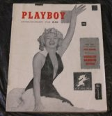 Monroe V. 1 Playboy 1953 Magazine First Issue