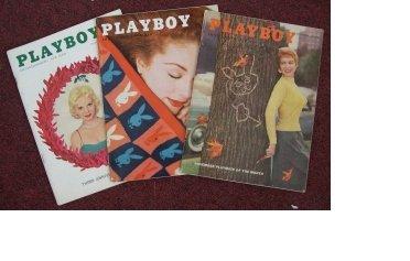 PLAYBOY 1955 1956 MAGAZINES 3 ISSUES NOV MAY DEC