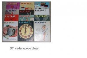 PLAYBOY 1957 MAGAZINES FULL YEAR JAN. ~ DEC. 57