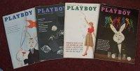 Playboy 1959 Magazines Oct July Nov Jan