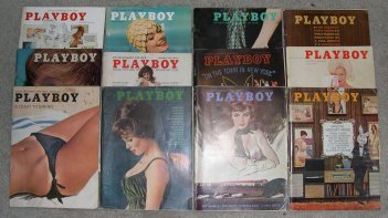 Playboy Magazines 1962 Complete Year 62 sets