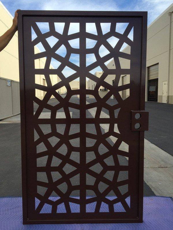 metal gate walk pedestrian wrought iron garden