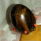 "Tigers Eye ""Yoni Egg"" Kegel Exerciser Medium Free US Shipping"