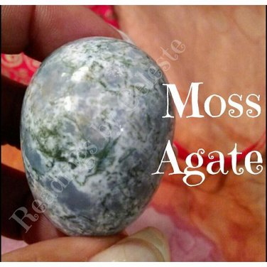 Moss Agate  My Happy Yoni Egg Memdium (45*33) non drilled