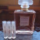 CHANEL COCO MADEMOISELLE PERFUME- THREE 1.7 ml Sample Spray Atomizers - 100% Authentic